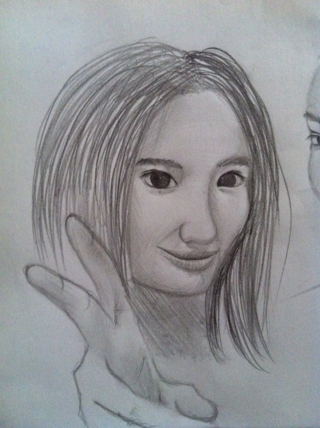 My friend. Pencil drawing. Free hand.