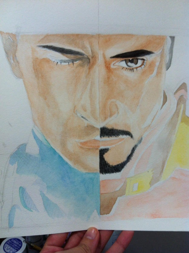 Water color study, free hand.